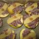 Krasser Bratapfel mit Heidelbeermarmelade