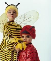 Bienen- oder Marienkäferperücke für Kinder