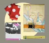 Notizheft mit Wachstuch Umschlag