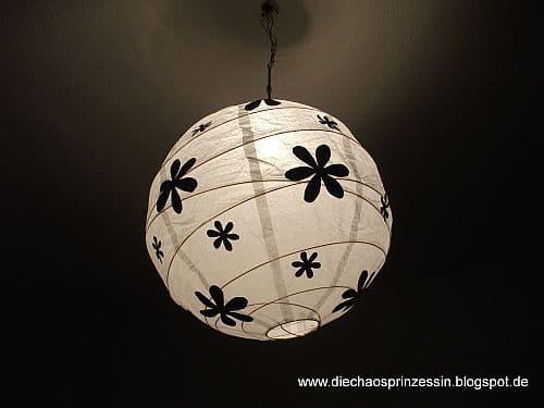 papierlampe versch nern total einfach handmade kultur. Black Bedroom Furniture Sets. Home Design Ideas