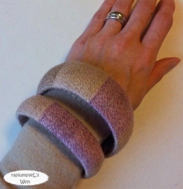 Armreifen aus Sockenwollresten