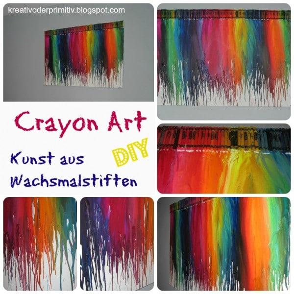 Crayon Art Kunst Aus Wachsmalstiften Handmade Kultur