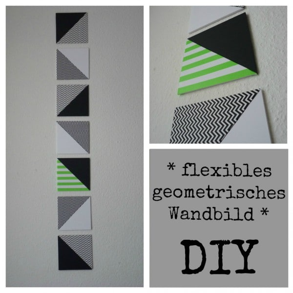 Flexibles geometrisches Wandbild / Dreiecke