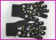 Handschuhe mit Pailletten