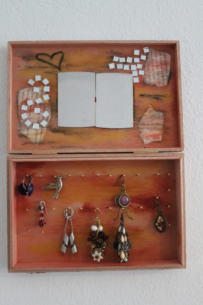 Holzbox upgrade zum wand schmuckkästchen   handmade kultur