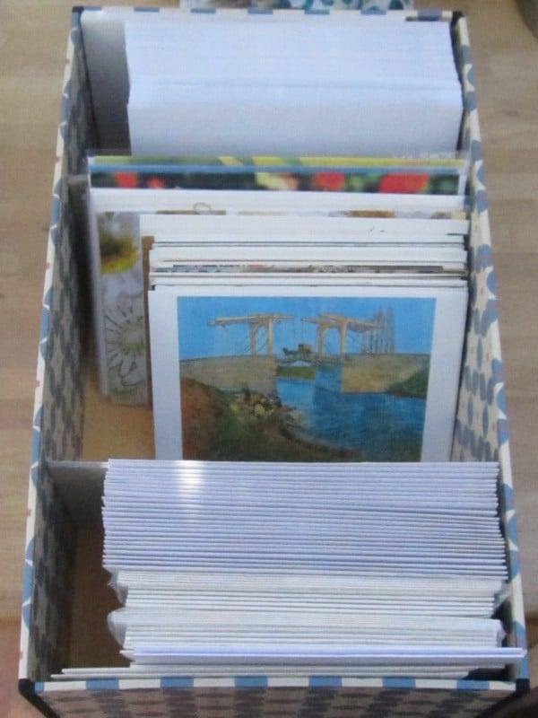 Box für Karten und Kuverts