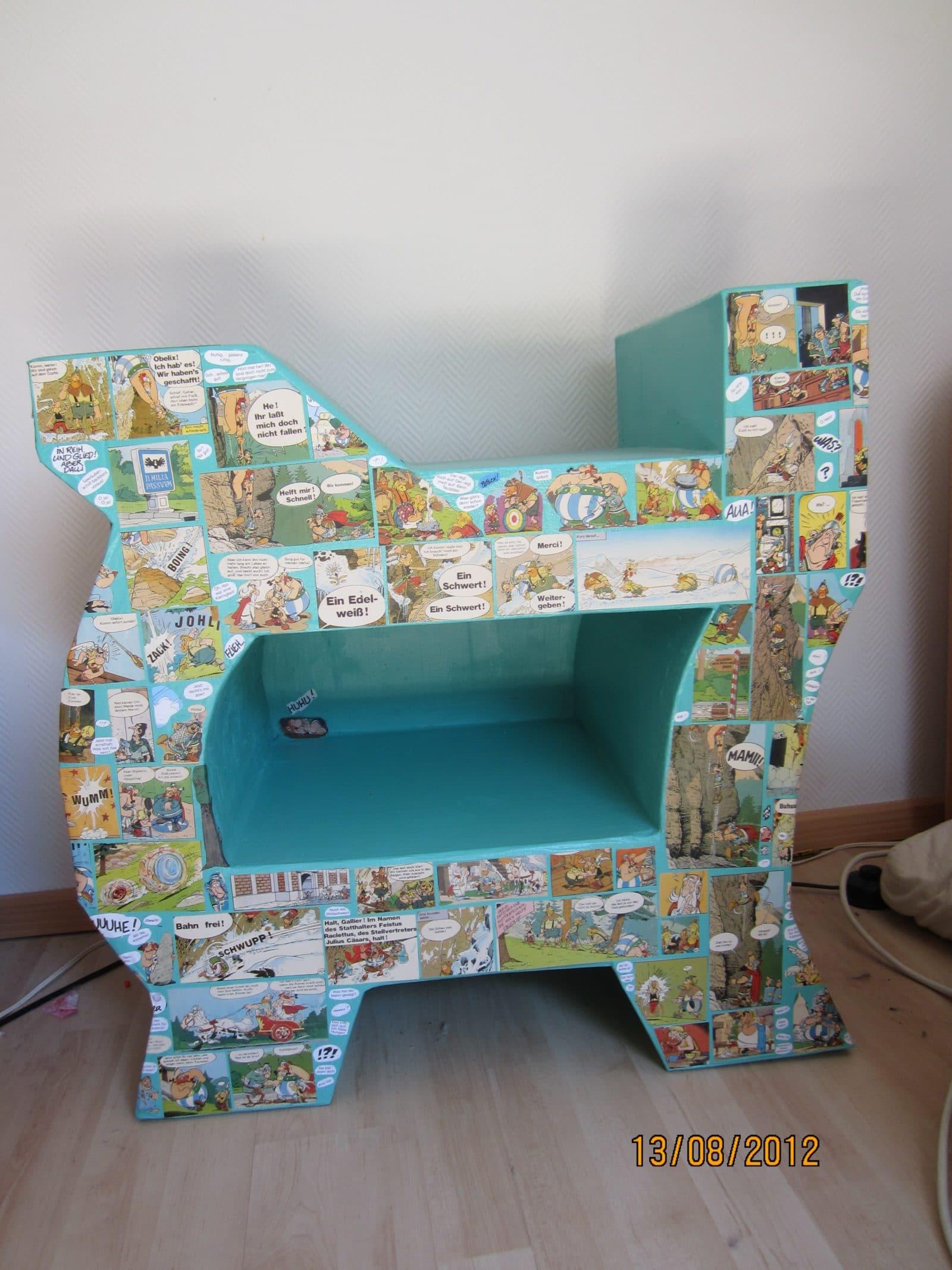 m bel aus pappe upcycling projekte handmade kultur. Black Bedroom Furniture Sets. Home Design Ideas
