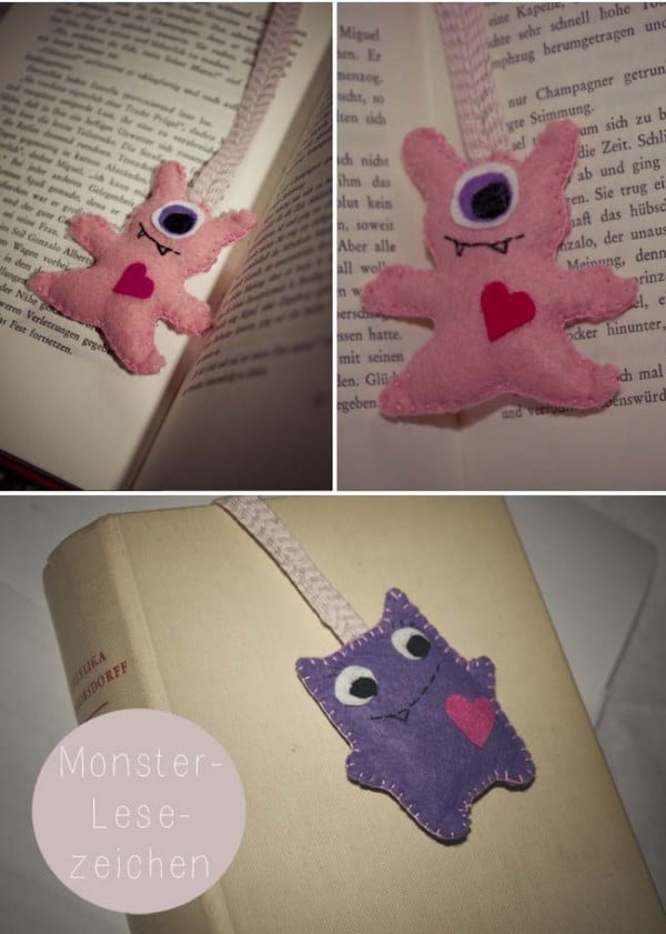 Monster-Lesezeichen aus Filz