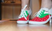 Erdbeer-Schuhe!