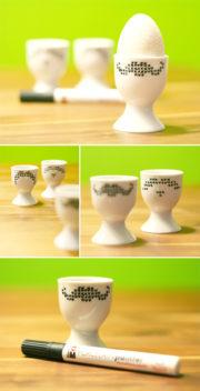 Eierecher mit Kreuzstich Moustache