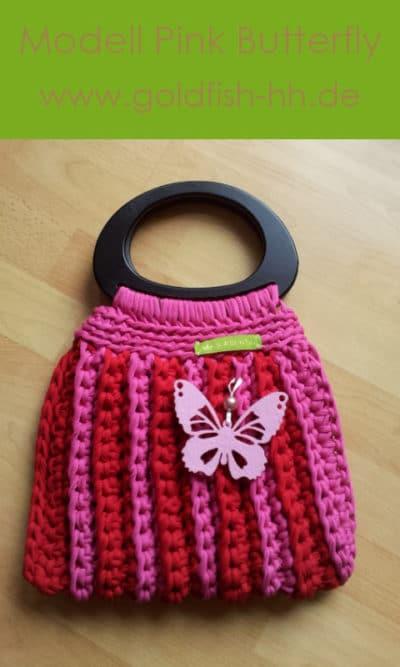 """goldfish:hh Handtasche Modell """"Pink Butterfly"""""""