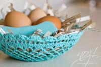 Osternest aus Häkeldeckchen