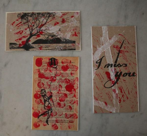 Bedruckte Untersetzer/ Postkarten
