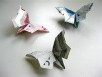 Origami Geldschein Schmetterling Video-Anleitung