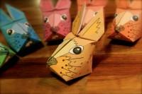 3D Origami Osterhase Vorlage