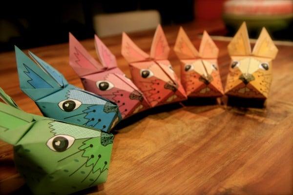 3d origami osterhase vorlage handmade kultur. Black Bedroom Furniture Sets. Home Design Ideas