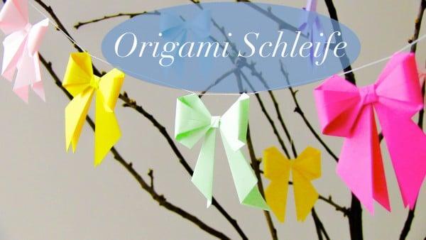 diy origami schleife videoanleitung handmade kultur. Black Bedroom Furniture Sets. Home Design Ideas