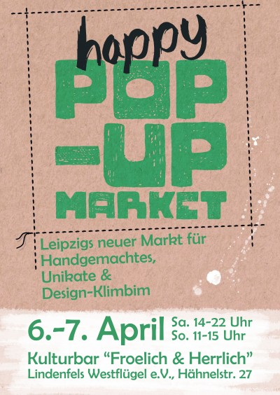 "1. ""happy POP-UP MARKET"" in Leipzig"