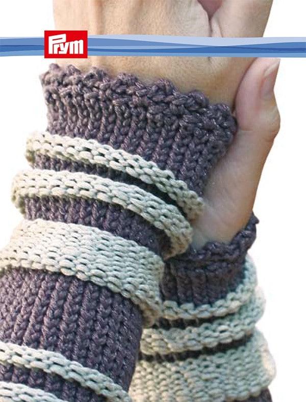 Armstulpe, mit rechten und linken Maschen