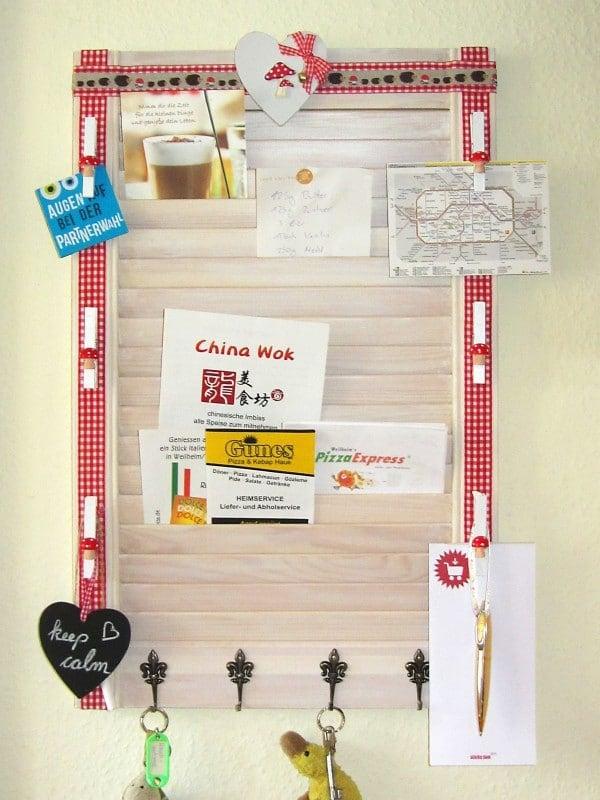 memoboard aus lamellent r handmade kultur. Black Bedroom Furniture Sets. Home Design Ideas