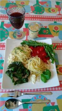 Spaghetti mit Bratpaprika