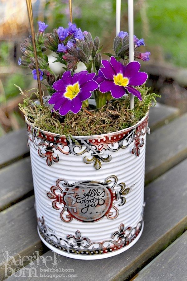 Bilderhalter aus konservendose handmade kultur for Blechdosen basteln