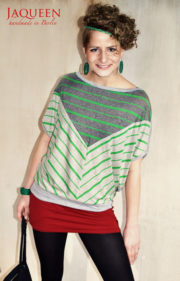 Shirt Streifen grün grau