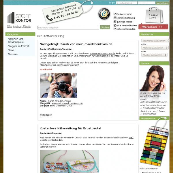 Stoffkontor Blog