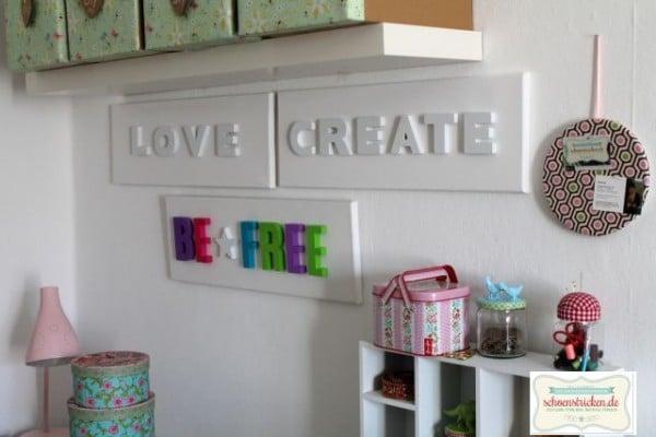 wand deko mit buchstaben basteln handmade kultur. Black Bedroom Furniture Sets. Home Design Ideas