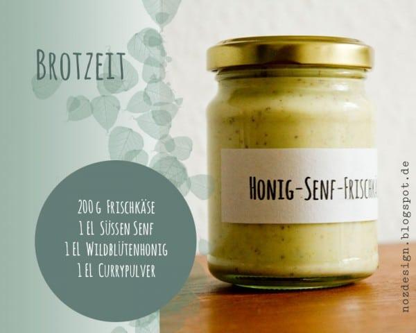 Honig-Senf-Frischkäseaufstrich