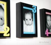 """Bastelanleitung Baby Bilderrahmen """"Meine ersten 12 Monate"""""""