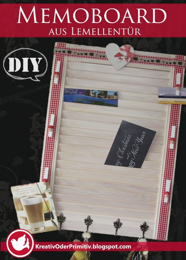 memoboard aus lamellent r handmade kultur. Black Bedroom Furniture Sets. Home Design Ideas