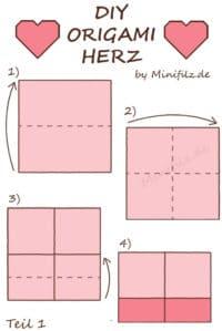 ♥ Origami Herz ♥