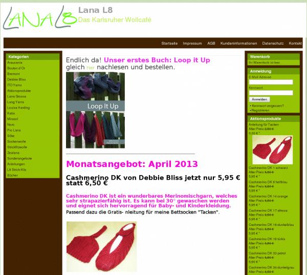 Lana L8 - der Onlineshop für feine und edle Wolle