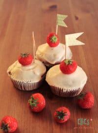 Erdbeer-Vanille-Cupcakes