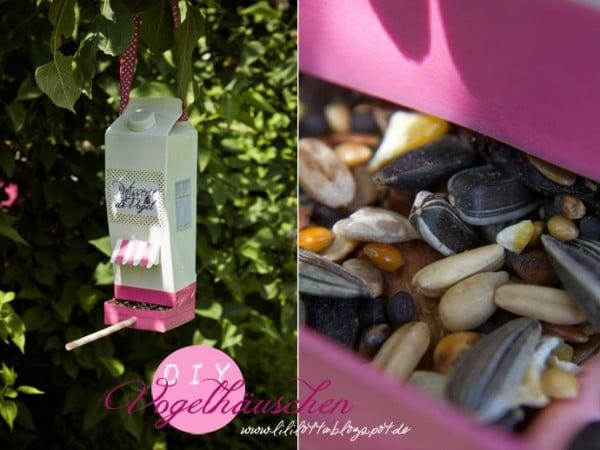 Vogelhäuschen aus Milchtüte :)