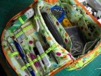 Anleitung Projekttasche für Nähkurs oder Strickzeug