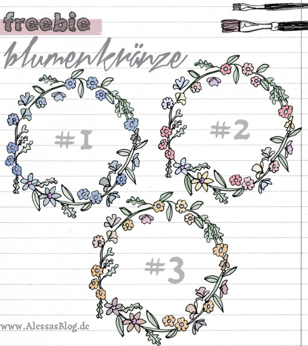 printable downloads: Blumenkränze