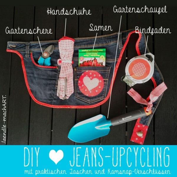 DIY Jeans-Upcycling | Gürteltasche fürs Gartenwerkzeug