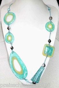 Wunderschöne lange Halskette Kette Türkis NEU&OVP Modeschmuck Schmuck