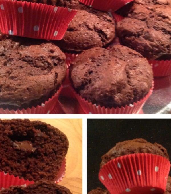 Schoko-Muffins mit Nusspli-Kern