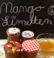 Süsses und Saures?  Mango-Limetten-Marmelade!