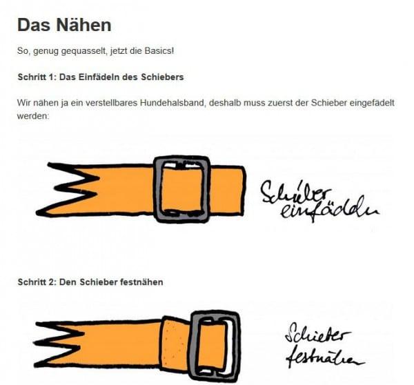 Easypeasy Nähanleitung für Einsteiger - verstellbares Hundehalsband