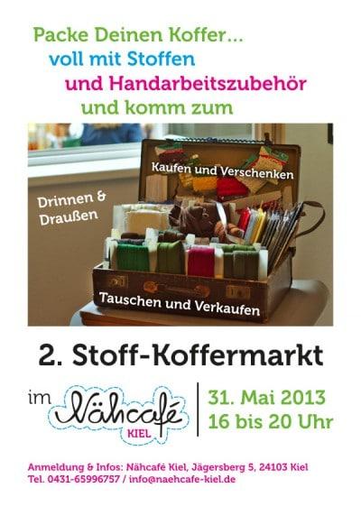 2. Stoff-Koffermarkt im Nähcafé Kiel!