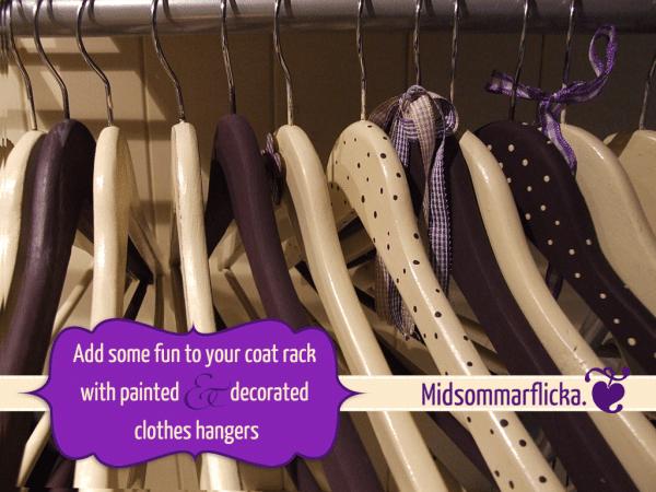 Kleiderbügel bemalen und dekorieren