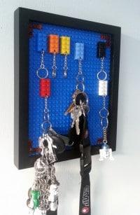 Lego-Schlüsselbrett - einfach und bunt