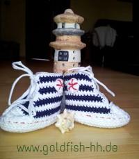goldfish:hh Baby Sneakers im Marine-Look