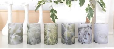 papier windlichter 12 tlg set mit blumenmotiv geschenke bei handmade kultur. Black Bedroom Furniture Sets. Home Design Ideas