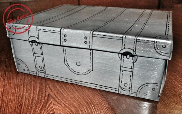 Eine wunderhübsche Idee zum Aufpeppen von Schuhkartons.