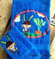 Individualisierbares Handtuch und Waschlappen